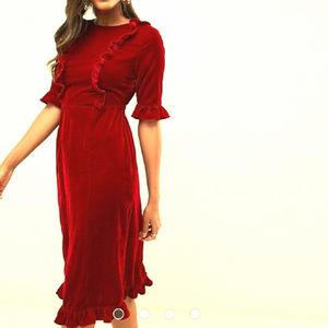 ASOS Design Velvet Midi Dress